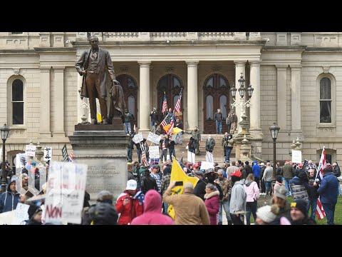 Protesters clog Michigan Capitol to protest lockdown Protesters in Lansing, Mich., on April 15 caused a traffic jam near the capitol building to protest Gov. Gretchen Whitmer's stay-at-home order. Read more: ..., From YouTubeVideos