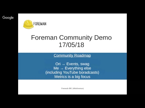 Foreman Community Demo #44