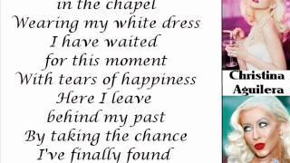 Christina Aguilera - The Right Man (Lyrics On Screen)