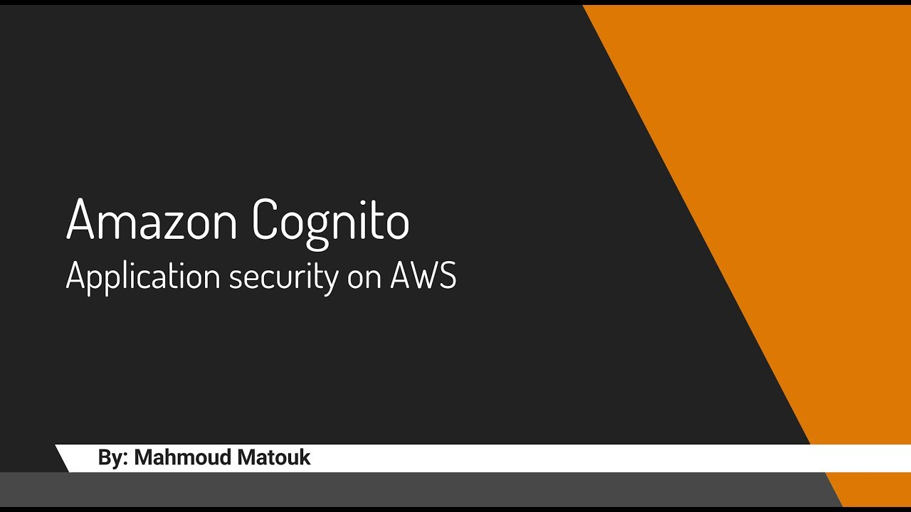API Gateway security using Amazon cognito user pool