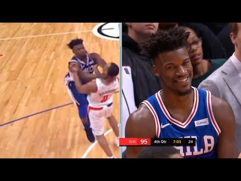 Jimmy Butler & Avery Bradley gets ejected from game after scuffle | LA Clippers vs Sixers