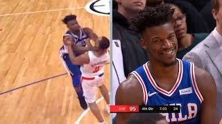 Jimmy Butler & Avery Bradley gets ejected from game after scuffle   LA Clippers vs Sixers