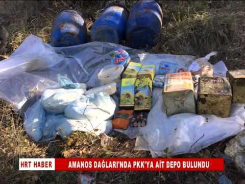 Amanos Dağları'nda PKK sığınağı bulundu