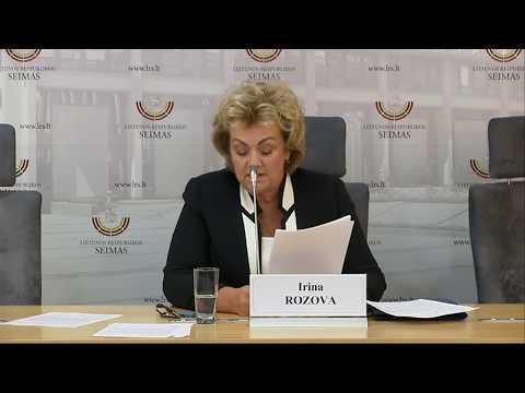 2019-09-18 LLRA-KŠS frakcijos narės I. Rozovos spaudos konf.