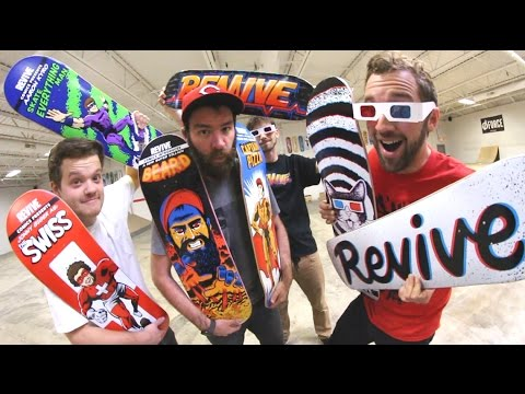 NEW REVIVE SKATEBOARDS PRODUCTS! - Spring 2017 (Best Graphics Yet!)