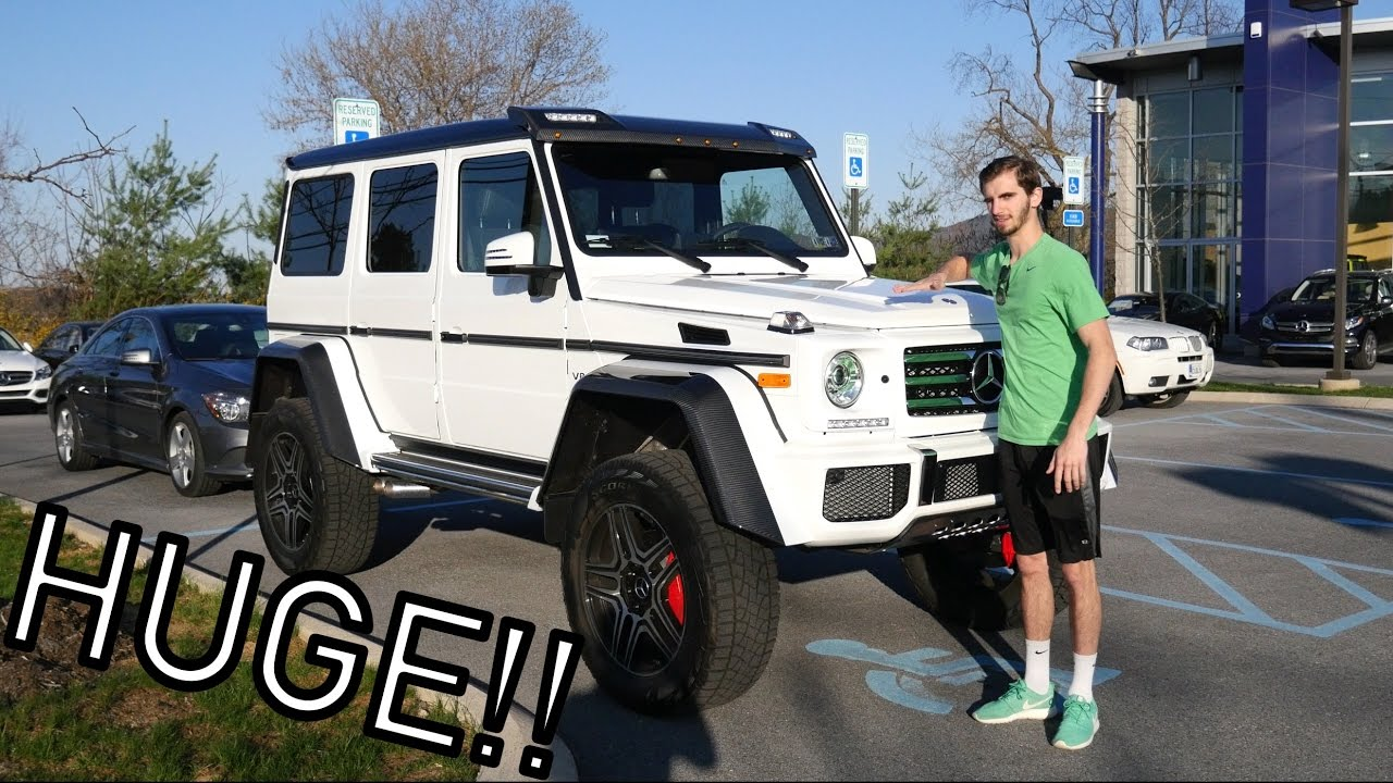 The mercedes benz g550 4x4 squared is massive youtube for Mercedes benz 4x4 squared