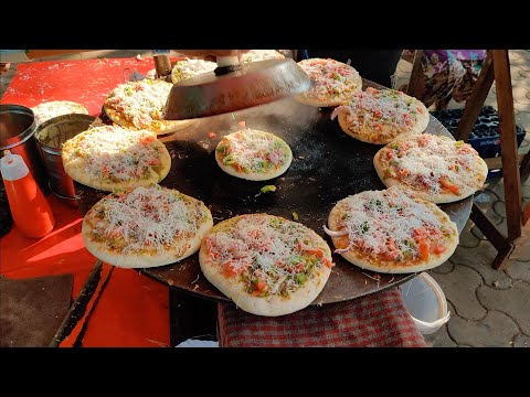 India's Cheapest Rs 20 Pizza | Street Style Tawa Pizza | Indian Street Food