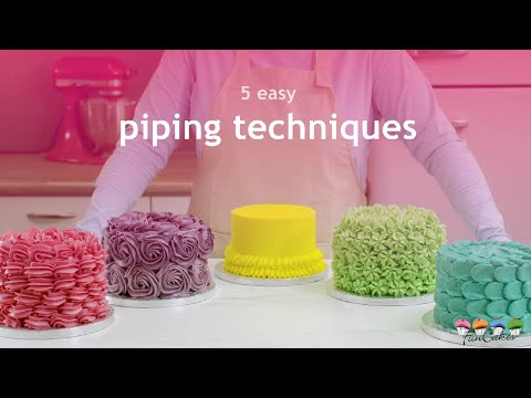 5 Easy Piping Techniques for Cake Decorating From FunCakes