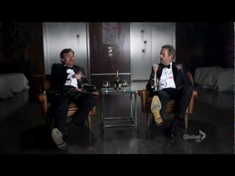 Hugh Laurie shoots his own foot :D