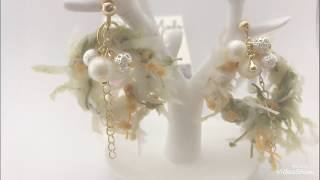 Easy DIY: Chic hoop and cluster beads Earrings(fancy Yarn earrings)