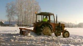 Zima 2016 Na Podlasiu- Odśnieżanie C-330