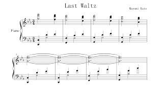 """""""Last Waltz"""" by Mayumi Kato FREE SHEET MUSIC Paul Barton, piano"""