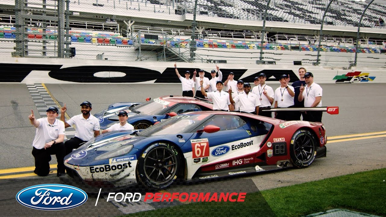 Ford Gt Goes Back To Back At Rolex  Ford Performance