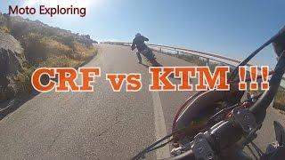Honda CRF450X vs KTM 530EXC on Twistys!!!  (Serra de Arga - Portugal) [M.E.]