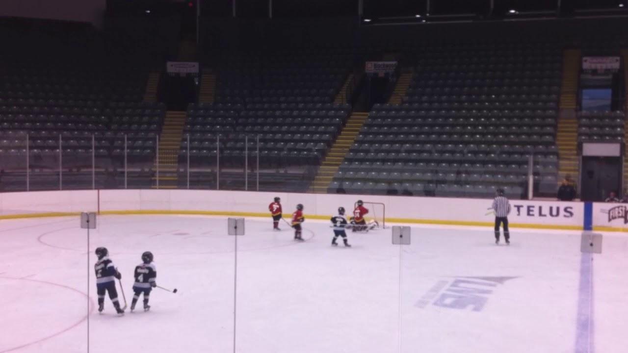 Amazing Kick Save By 6 Year Old Ice Hockey Goalie