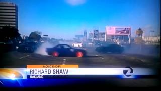 Ch. 2 NEWS COVERAGE - Bay Area - Oakland - Hwy 800 Sideshow Drift Circle