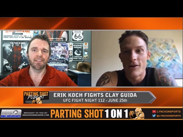 "UFC Fight Night 112's Erik Koch ""I'm going to smash Clay Guida then tear through this division"""