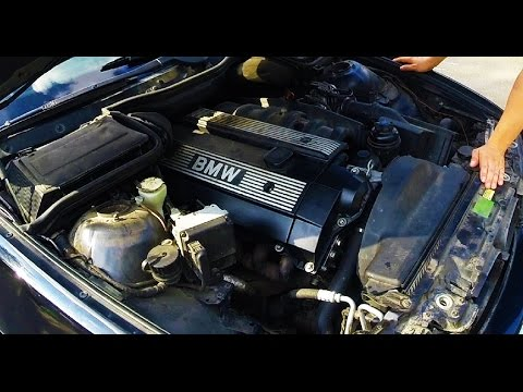 BMW e39 M52 как поменять помпу и термостат