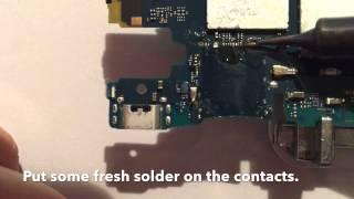 Sony Xperia Z 3 Compact Micro SD Slot wechseln, reparieren / repair, change, fix