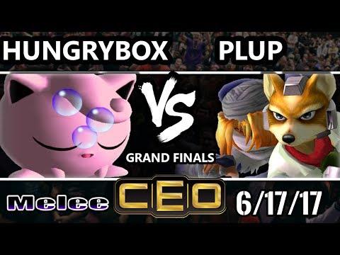 CEO 2017 Smash Melee - Liquid'Hungrybox (Jigglypuff) vs PG | Plup (Fox, Sheik) SSBM GF