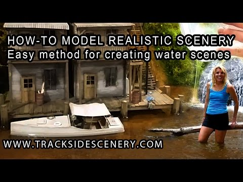 How-to Make Realistic Model Railroad Scenery – Water – Quick and Easy!