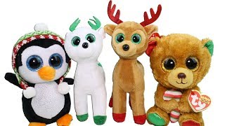 Christmas 2017 Beanie Boos Haul Unboxing Toy Review TY Beanie Boo and Beanie Babies Plush