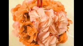 Цветочный шар для декора интерьера своими руками