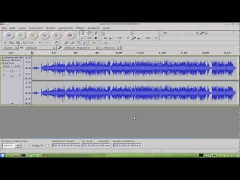 Tutorial:Installation and basic review of Audacity 2.0.1 in Ubuntu 12.04  (Part 1/2)