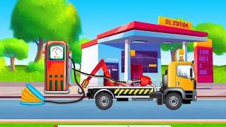 Мультики про машинки | Крановщик КамАЗ и Эвакуатор мультик  Ремонт машин | Мультики онлайн 2020