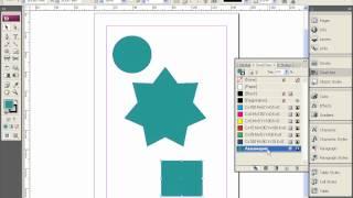 Создание образцов цвета в Adobe InDesign