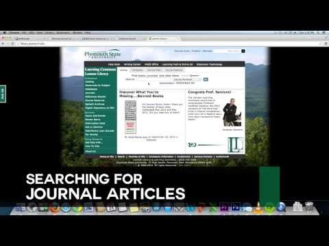Plymouth State | Searching For Journal Articles