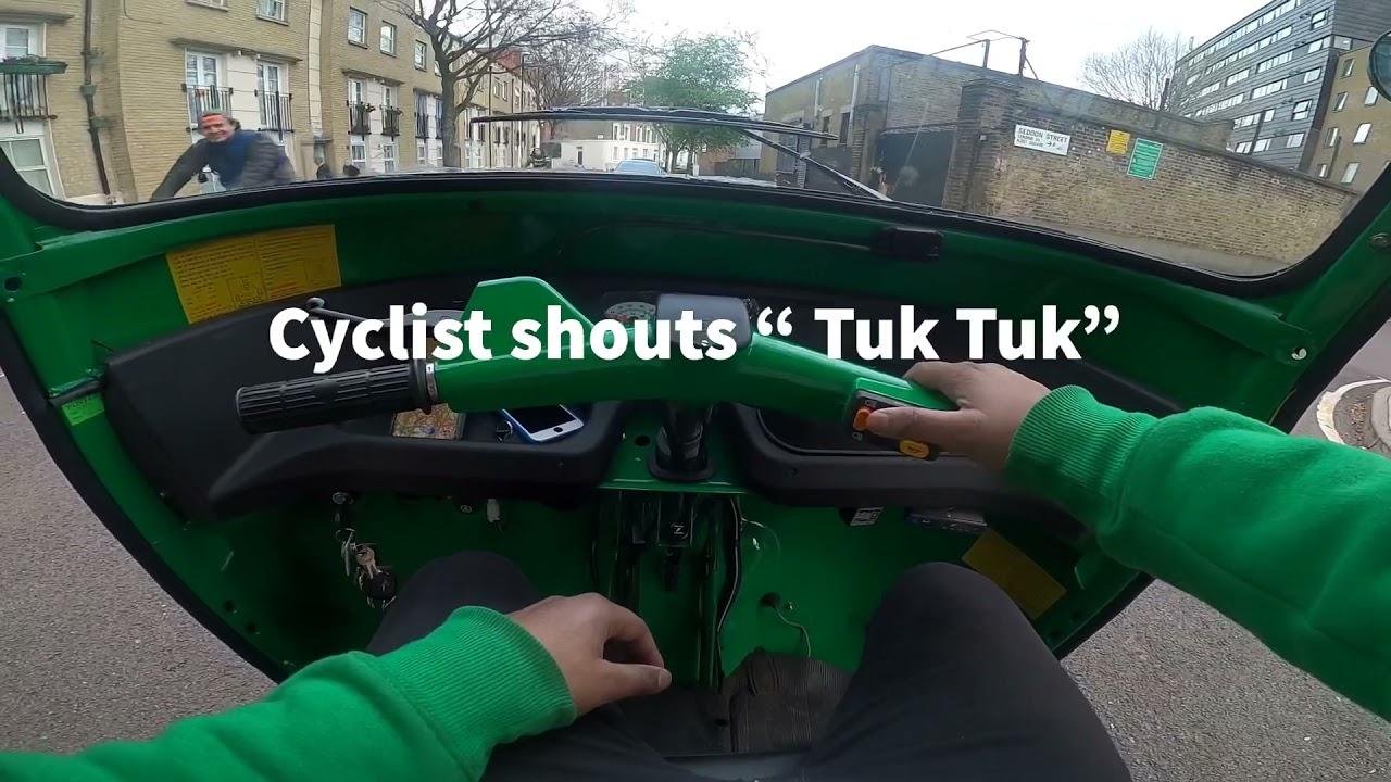 TukTuk vs uber driver london Race