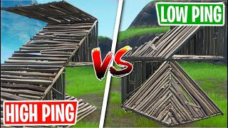 Fortnite: Testing Different Building Methods On HIGH Ping vs LOW Ping!