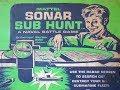 1961 Mattel Sonar Sub Hunt Vintage Board Game Tv Commercial