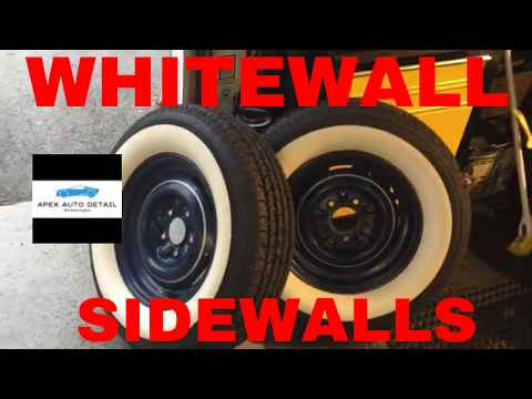 HOW TO CLEAN YOUR WHITEWALL, SIDEWALLS FROM YELLOW TO BRIGHT WHITE
