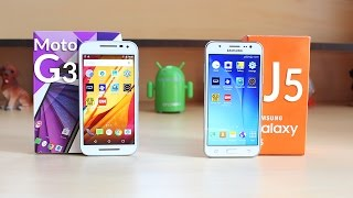 Moto G3 vs Galaxy J5 Speed Test 4K!