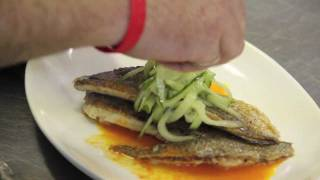 Pan Seared Porgy With Carrot Lemon Sauce And Pickled Cucumber Salad Is Brandl.'s Fresh Catch 9 30 11