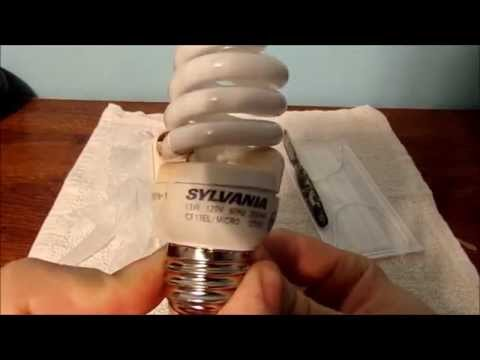 HOW TO TAKE APART A CFL LIGHT BULB