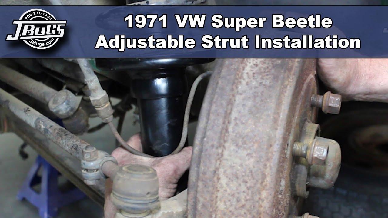 Jbugs 1971 Vw Super Beetle Adjustable Strut Installation Youtube 1972 Volkswagen Coil Wiring