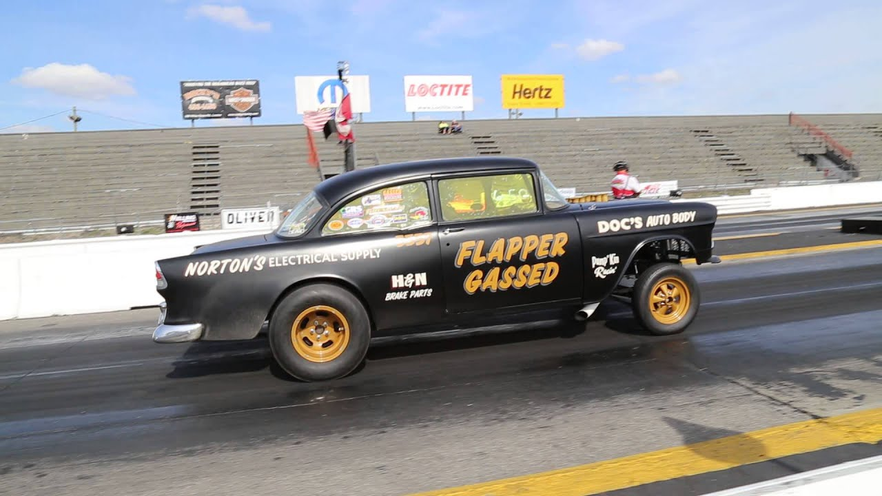 Chevy Of Bend >> 1955 chevy gasser burnout - YouTube