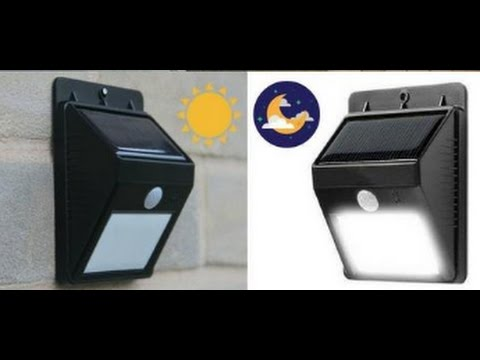 hqdefault solar powered outdoor motion sensor led light (no wiring needed