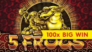 5 Frogs Slot - Super Feature Retrigger Bonus!