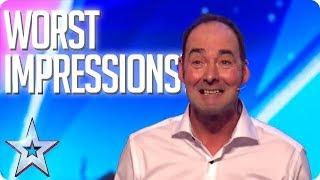 *Cringe Alert* WORST IMPRESSIONS OF ALL TIME! | Britain's Got Talent