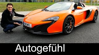 McLaren 650S Spider FULL REVIEW test driven V8 650 hp convertible/cabriolet - Autogefühl