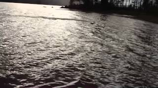 RC BOAT JUMPING THE WAVES SUPER SURGE CRUSHER