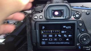 Canon 80D how reset setting