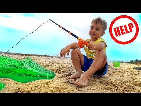 Animal Rescue Operation. Adventure On The Fishing Gleb Have Fun And Play With Toys