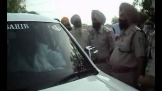 Insaaf march-sant daduwal arrested by badal punjab police.flv