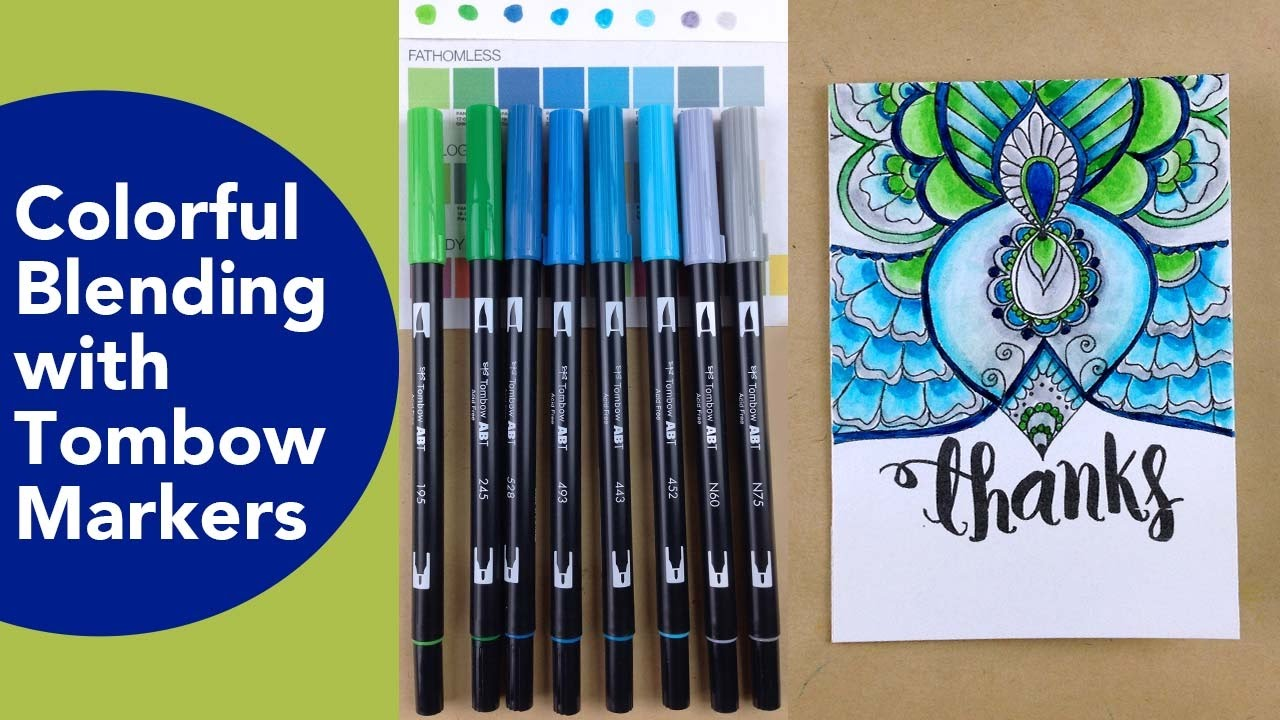 Colorful Blending with Tombow Markers, Adult Coloring techniques