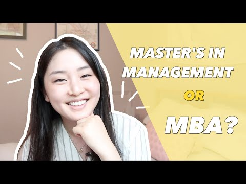 What is a Master's in Management? | MBA vs. MIM